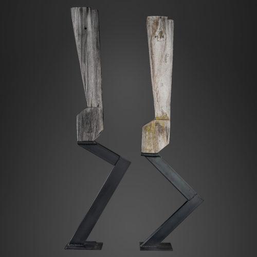 LES GIRLS, bois et métal, 220cm x 55cm x 20cm