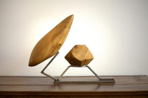 VOYAGE DE LUXE, bois et métal, 40cm x 60cm x15cm, vendu/sold