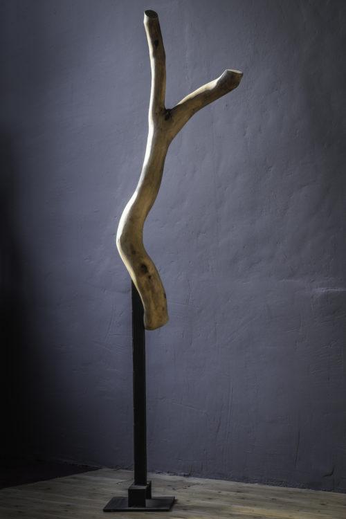 ARBRE SACRE , bois et métal, 170cm x 50cm x 20cm