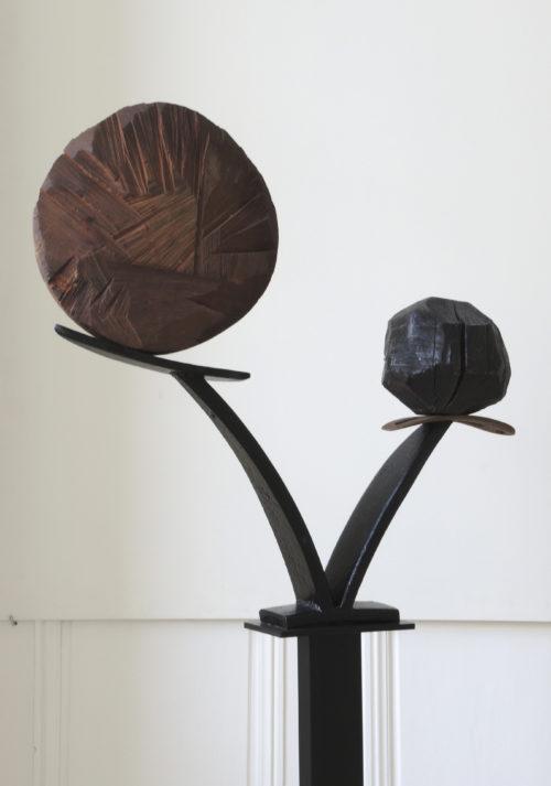BOUQUET, bois et métal, 150cm x 60cm x20cm
