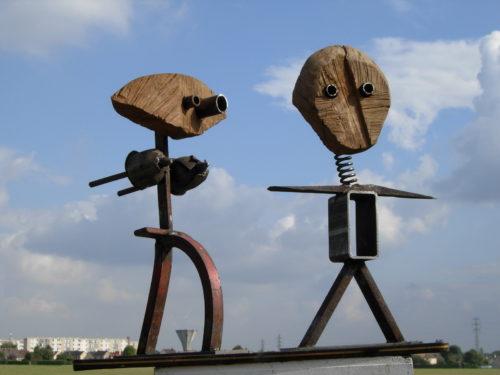 ADAM & EVE, bois et métal, 45cm x 12cm x 08cm